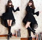 Dolly Kawaii GOTHIC PUNK LOLITA ALICE swallow tail DRESS +CHOKER S-L 81145 Black