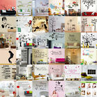 New DIY Removable Art Vinyl Quote Wall Sticker Decal Mural H