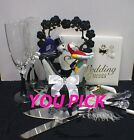 Nightmare before Christmas theme  Wedding Cake Topper OR Glasses Server Or Book