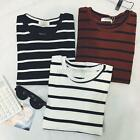 Women's Ladies Trendy Stripe Short Sleeve T-shirt Shirt Tops Blouse Top Clothes