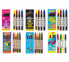 4 Mini Colour Wax Crayons (Choice of Theme) Boy Girl Party Loot Bag Toys Fillers