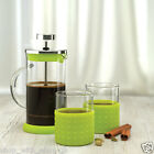 Coffee Plunger 3 Cup 350ml Stainless Steel / Glass Cafetiere French Filter Cups