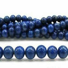 Free shipping 4-14mm Blue Egyptian Lazuli Lapis Gemstone Loose Bead 15''