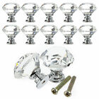 1/4/8X 40mm Diamond Crystal Glass Door Knob Cabinet Furniture Drawer Pull Handle