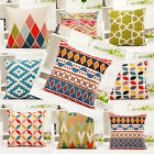 Fashion Geometric Linen Throw Pillow Cases Home Decorative Cushion Cover Square