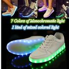 Unisex Colorful Glowing LED Light Luminous Shoes Lace Up Sportswear Sneaker