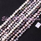 "3-4.5mm Natural Freeform Freshwater Pearl Gemstone Spacer Beads 14.5"" Pick Color"