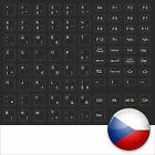 KEYBORD STICKER CZECH BLACK CZECH KEYBOARD KEYSTICK BLACK NOTEBOOK
