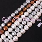 """11-12mm Freeform Freshwater Cultivate Pearl Gemstone Spacer Beads Strand 15"""""""