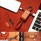 Leather key Ring Charger Sync Micro USB Data Cable For iPhone 6 6S PLUS 5S