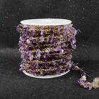 16Ft 5~10mm Natural Amethyst Chips Bead Chain DIY Jewelry Findings AJT053