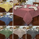 GINGHAM CHECK TABLECLOTHS RECTANGULAR SQUARE ROUND ALL SIZES ALL COLOURS
