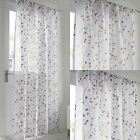 "BERRY FLORAL MODERN VOILE CURTAIN PANEL READY MADE NET CURTAIN 54"" 72"" 90"""