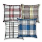 "Highland Tartan Check Plaid Cushion Covers or Filled Cushions - 17"" / 43cm"