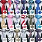 USA 200 Colors Blue Red Black Grey Green Pink Gold Silk Men's Tie Necktie Set