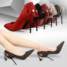 Sexy Womens High Heels Suede Pointed Toe Tassel Shallow Mouth Stilettos Shoes