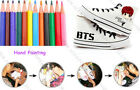 Kpop BTS Wings Hand Painting Shoes Unisex V Ankle Boots Sport DIY Bangtan Boys