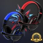 Fosmon for PS4 Xbox PC On Ear Stereo 3.5mm Wired Gaming Headset Headphone Mic