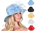 Women Wide Brim Dressy Church Wedding Kentucky Derby Tea Party Sun Hat A323