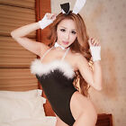 Sexy Lingerie Babydoll Teddy Lady Rabbit Bunny Costume Pink Black Gift
