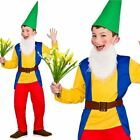 Garden Gnome Boys Fancy Dress Costume Gnomes Outfit Ages 3-13