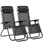 New Zero Gravity Chairs Case Of 2 Lounge Patio Chairs Outdoor Yard Beach O62 cheap