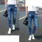 Fashion Design Men Straight Slim Fit Classic Washed Pants Stylish Jean Trousers