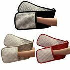 Double Oven Gloves, Windsor Stripe, Heat Resistant, Extra Thick 100% Cotton