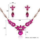 Brand New Fashion Charm Lady Crystal Necklace Earrings Set Wedding Party Jewelry