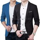 Stylish Mens Casual Slim Fit Formal One Button Suit Blazers Coat Jacket Overcoat