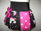 New COOL Girls Black pink rainbow unicorns stars  pleated skirt party gift Punk
