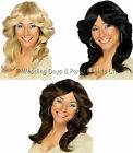 Long Wavy Flick Wig 60s 70s 80s Disco Diva Ladies Fancy Dress Costume Accessory