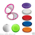DOUBLE SIDED COMPACT ROUND COSMETIC MIRROR MAGNIFYING SIDE HANDBAG MAKEUP TRAVEL