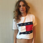 Women Cotton white letter print O-neck casual loose short sleeve summer T-shirt