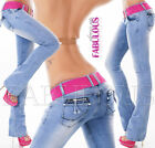 Women's Slim Fit Boot Cut Leg Jeans Bootleg Denim Size 6 8 10 12 14 XS S M L XL