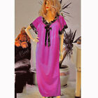 Plus Size Lingerie 1X 2X 3X Blue Royal, Slate or Fuchsia Pink Nightgown 9784X