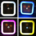 Cute Auto LED Induction Sensor Control Bedroom Night Lights Bed Lamp US EU Plug
