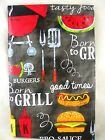 Assorted Sizes Family Cookout Picnic BBQ Grill Vinyl Tablecloth FREE SHIPPING