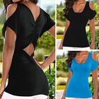 Sexy Womens Summer Casual Loose Off Shoulder Blouse Shirt Tops T Shirt Size 6-16