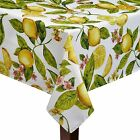 Assorted Sizes Yellow Lemon Tree Fruit & Blossom Fabric Tablecloth FREE SHIP