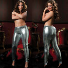 PLUS SIZE LINGERIE One Size Queen SEXY Silver Shiny Lamé Tights STM9326X