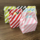 1-120X Stripe Paper Candy Boxes Birthday Party Wedding Favour Sweets Gift Bags