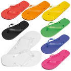 Plain Bright Colour Flip Flops Unisex Summer Beach Sandals All Sizes Shoes New