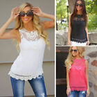 Charm Women's Slim Sleeveless Chiffon Vest Tank T Shirt Blouse Tops