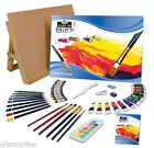 A3 ART & CRAFT WORK STATION DRAWING BOARD EASEL & 56 ARTIST MEDIA PIECES LT101