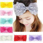 7 Color Kids Girl Baby Headband Toddler Lace Bow Flower Hair Band Accessories