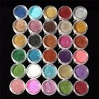 30 Mixed Colors Glitter Loose Powder Eyeshadow Eye Shadow Cosmetics Salon Set