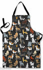 CARTOON DOGS DESIGN APRON KITCHEN BBQ COOKING PAINTING GREAT GIFT IDEA