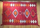 Large Antique 19th Cen. Navajo Blanket Rug Eyedazzler Native American Indian