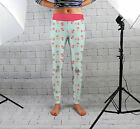 Ditsy Flowers Print Design Womens Spandex Leggings Gym Yoga Fashion Made In Uk